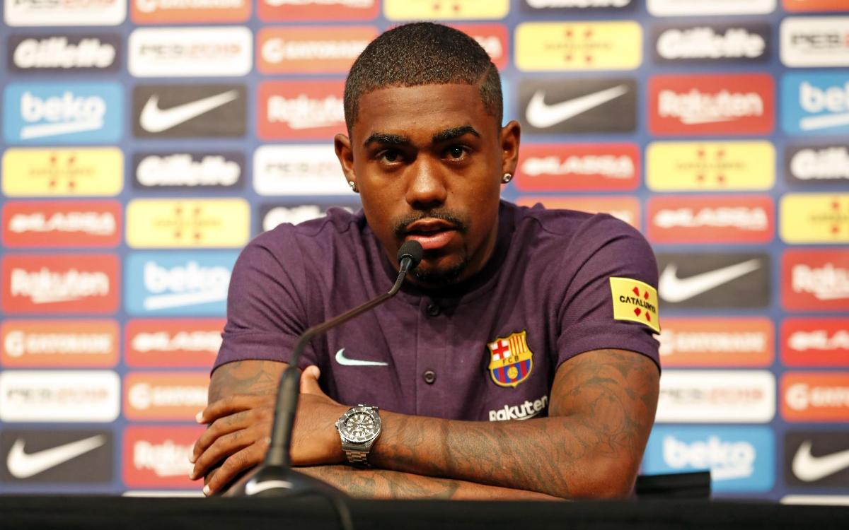 Malcom's presentation as FC Barcelona's latest signing, as it happened