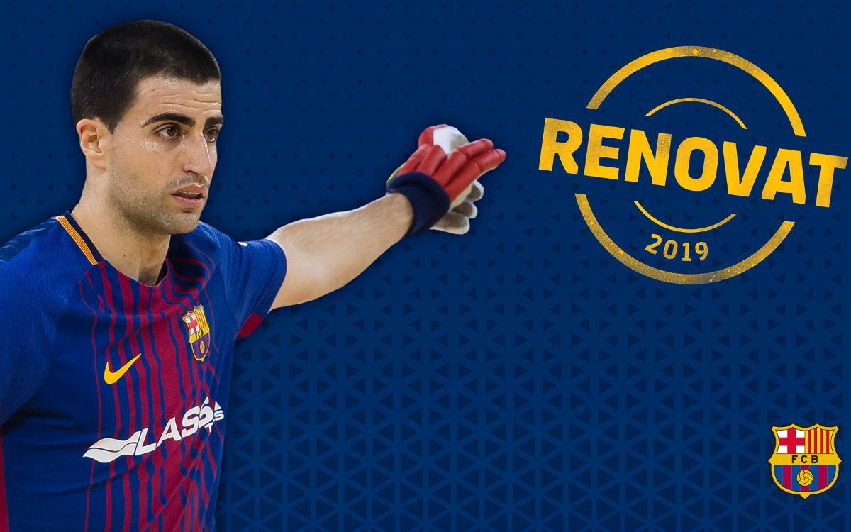 Marc Gual continuará una temporada más en el Barça Lassa