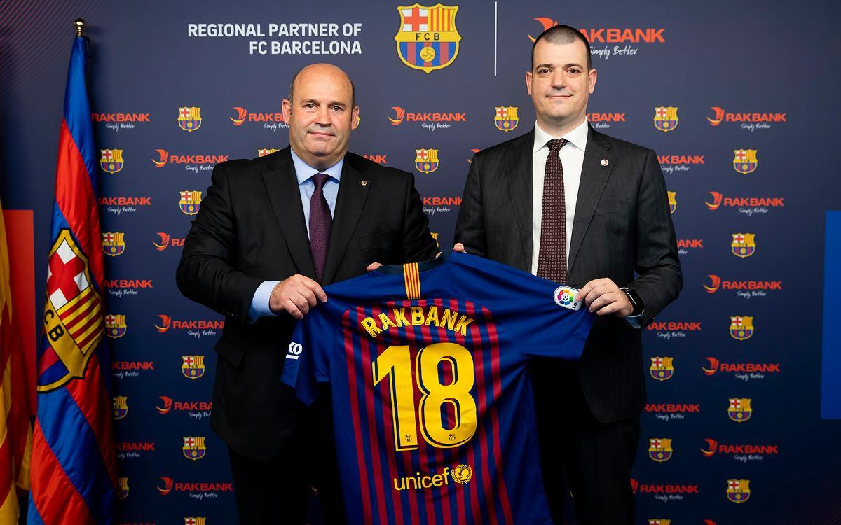 Rakbank, nuevo patrocinador regional del FC Barcelona