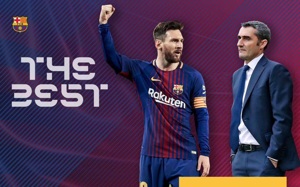 Leo Messi and Ernesto Valverde shortlisted for The Best 2018