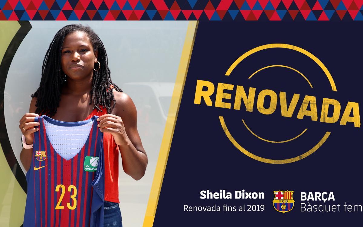 Sheila Dixon seguirà amb el Barça CBS una temporada més