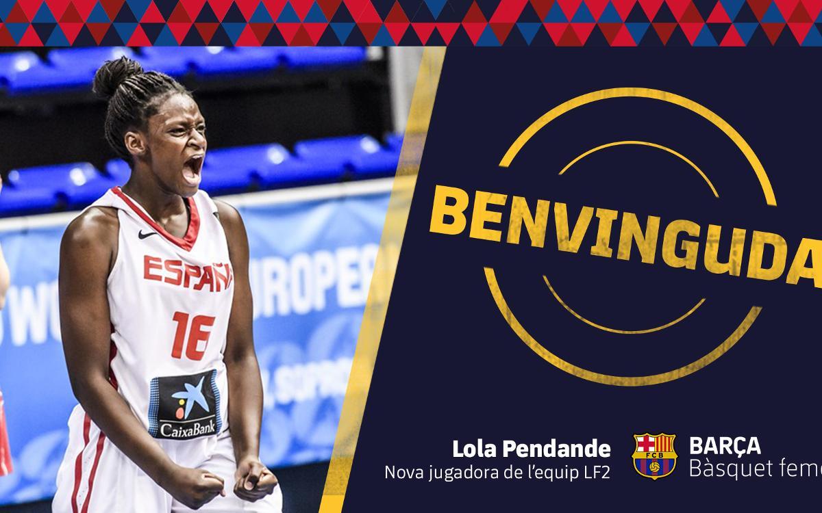 El Barça CBS incorpora Lola Pendande per a la temporada 2018/19