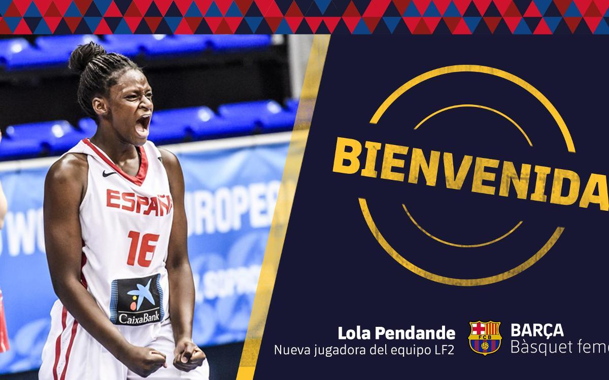 El Barça CBS incorpora Lola Pendande para la temporada 2018/19
