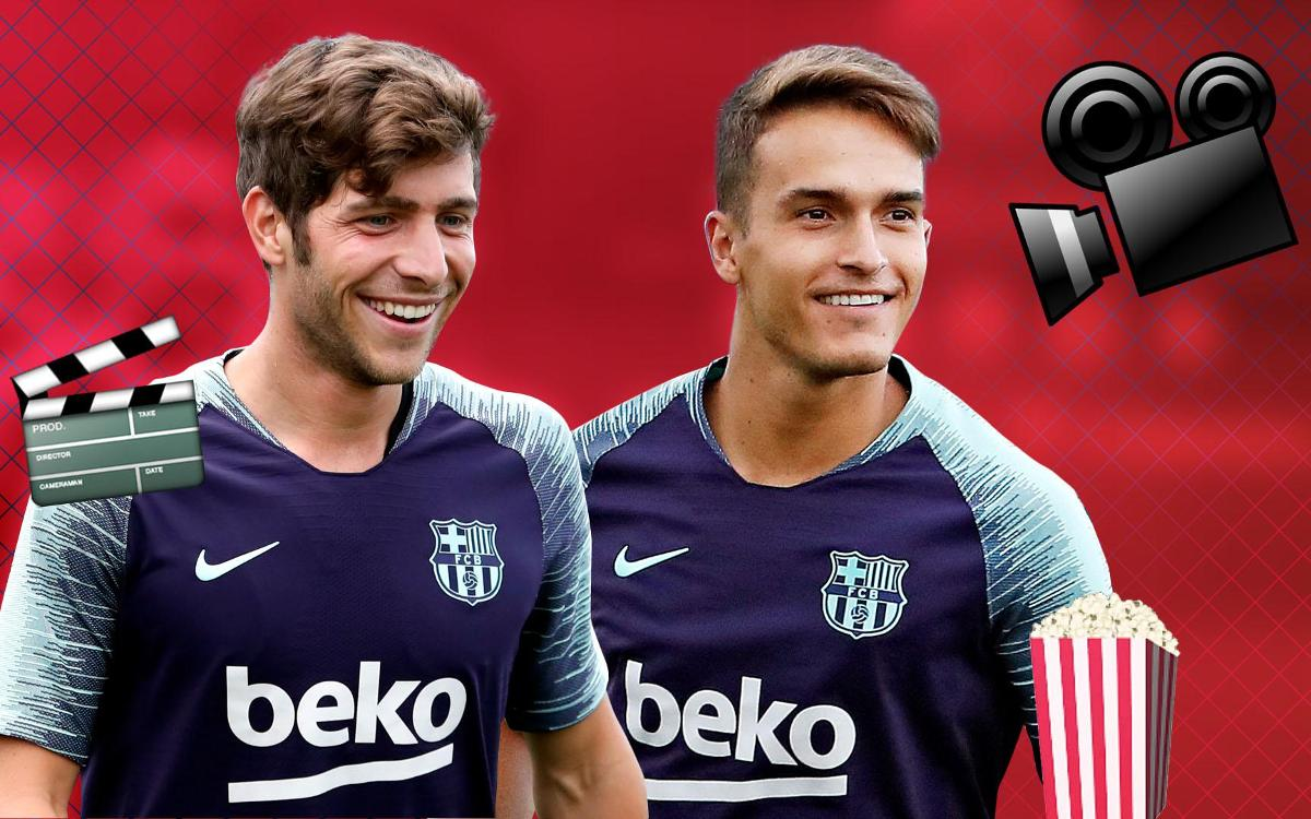 Denis Suárez and Sergi Roberto take our movie challenge