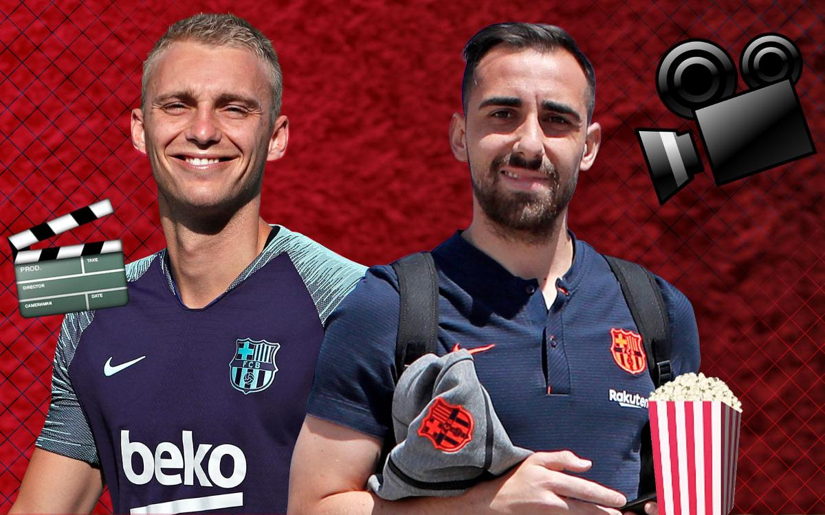 Cillessen and Alcácer take part in cinema quiz