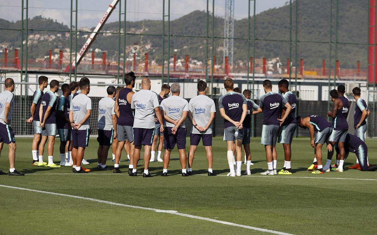 The final training session of the week at the Ciutat Esportiva