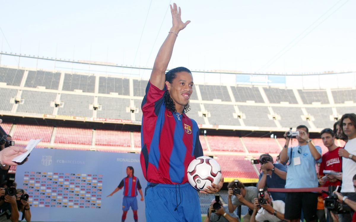 15 years since Ronaldinho's presentation as a Barça player