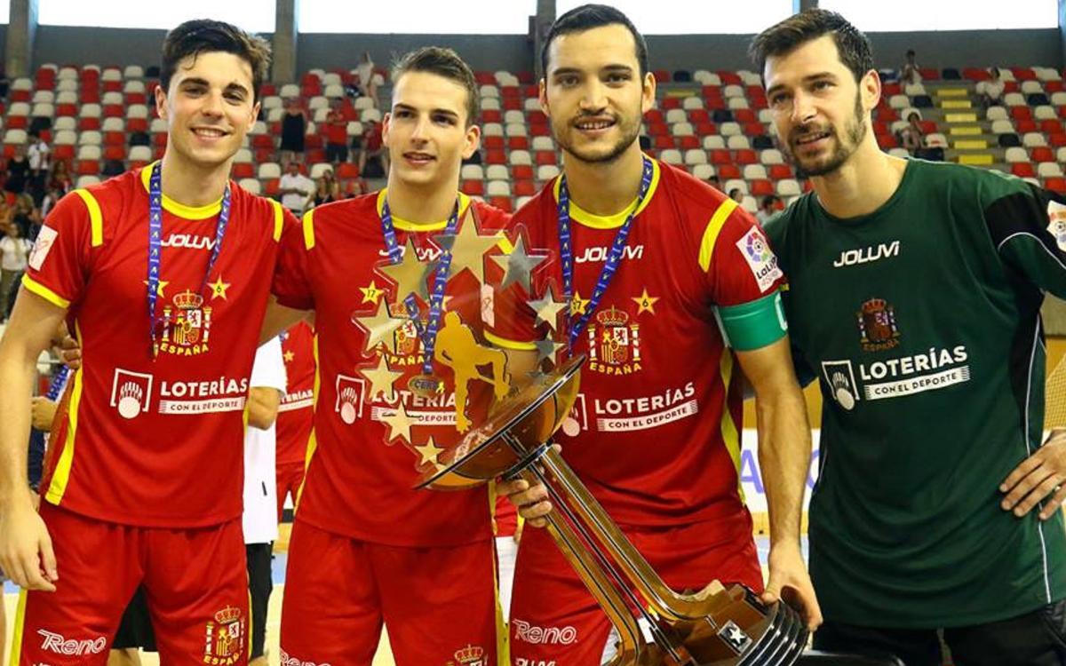 Ignacio Alabart, Nil Roca, Pau Bargalló i Sergi Fernández, campions d'Europa!
