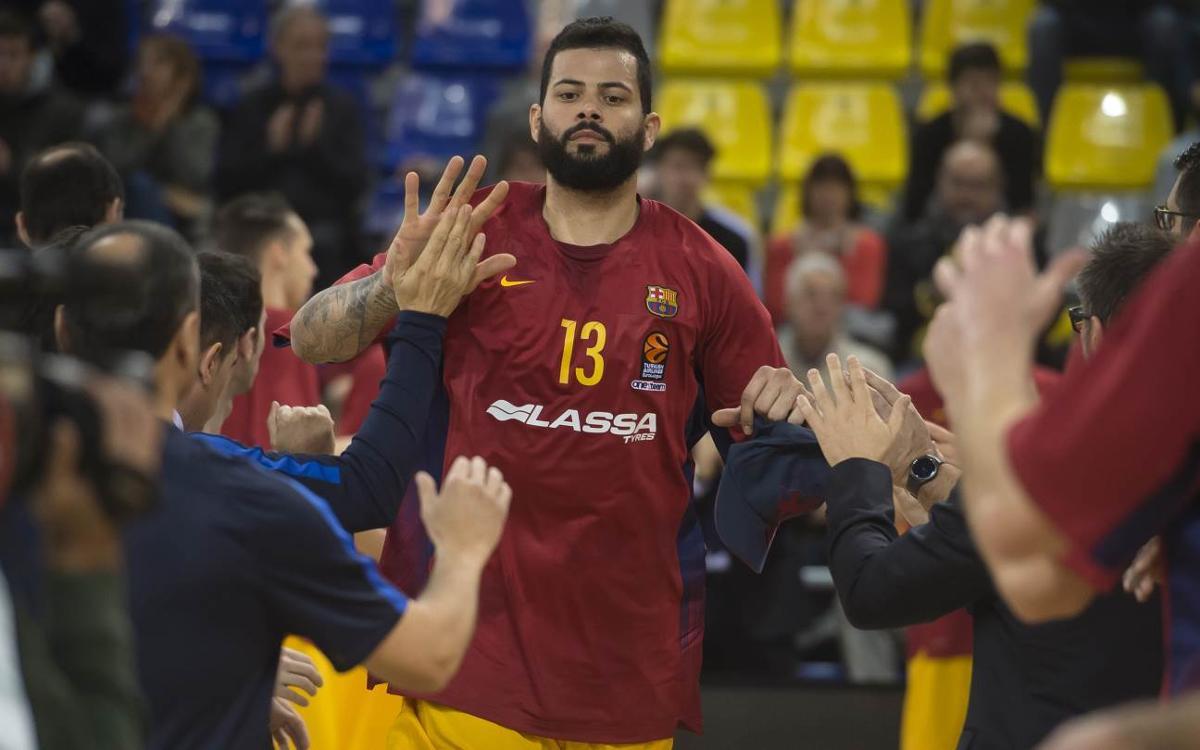Ribas, Claver y Doellman explican cómo es Faverani, el nuevo pívot del Barça Lassa