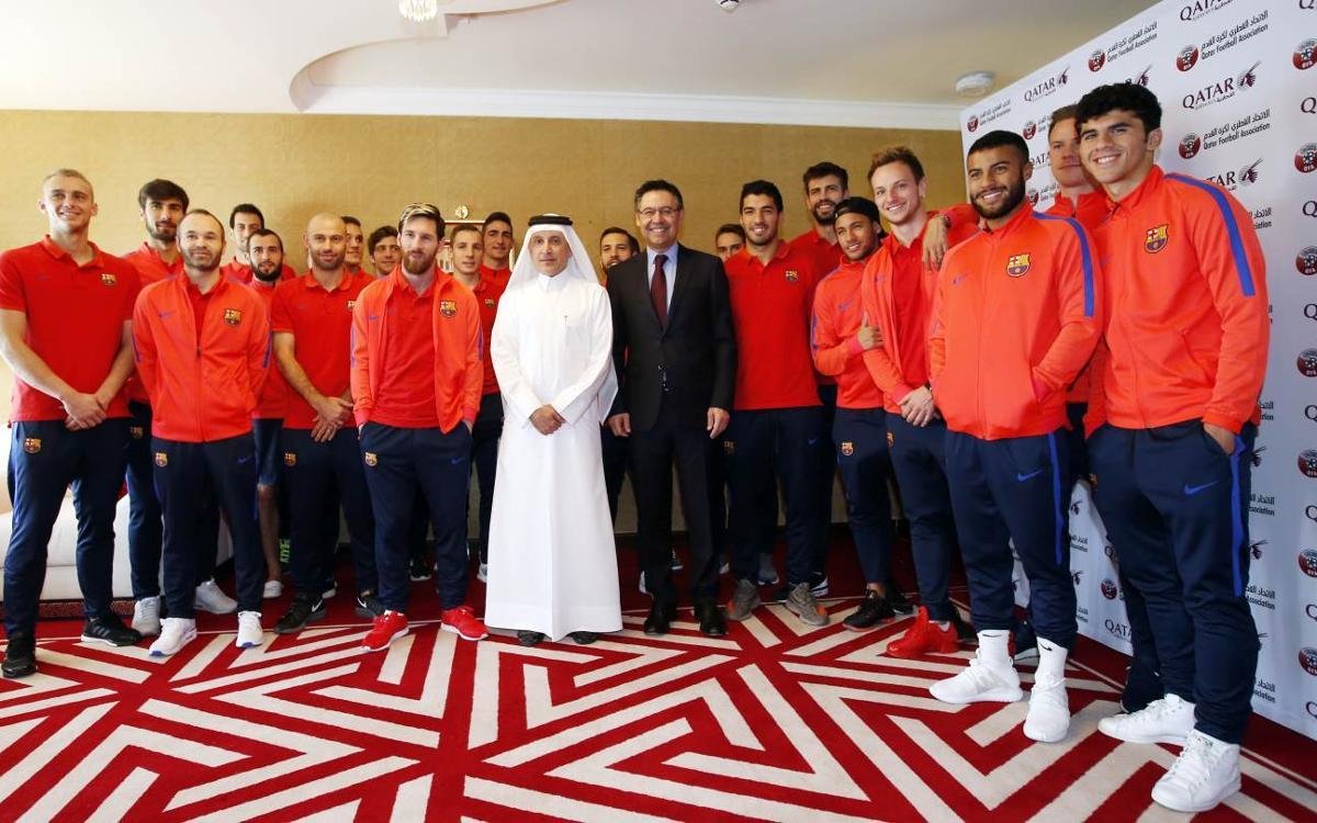 Gran expectació en les hores prèvies del partit amistós a Qatar