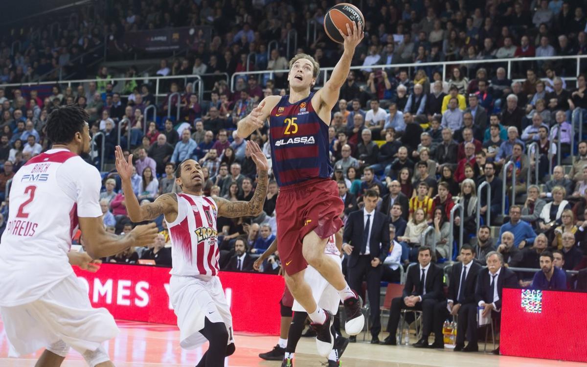 FC Barcelona Lassa- Olympiacos: Derrota en el último suspiro en un duelo trepidante (67-69)