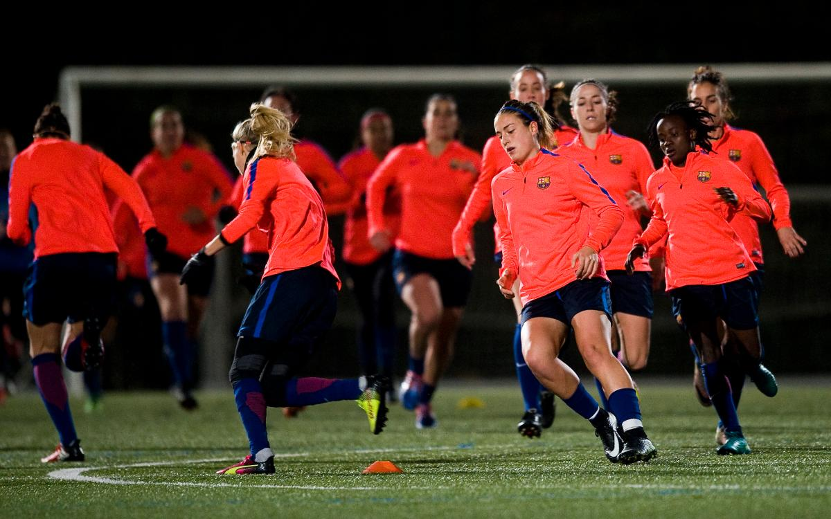 FC Barcelona Womens team train for the first time this year