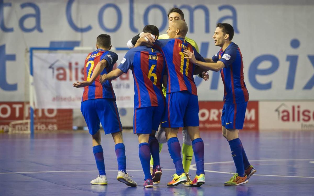 Catgas Energia Santa Coloma 3-4 FC Barcelona Lassa: Leader wins vibrant derby