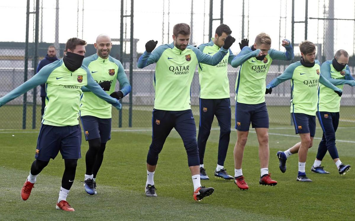 Préparation du choc décisif en Coupe du Roi pour le FC Barcelone