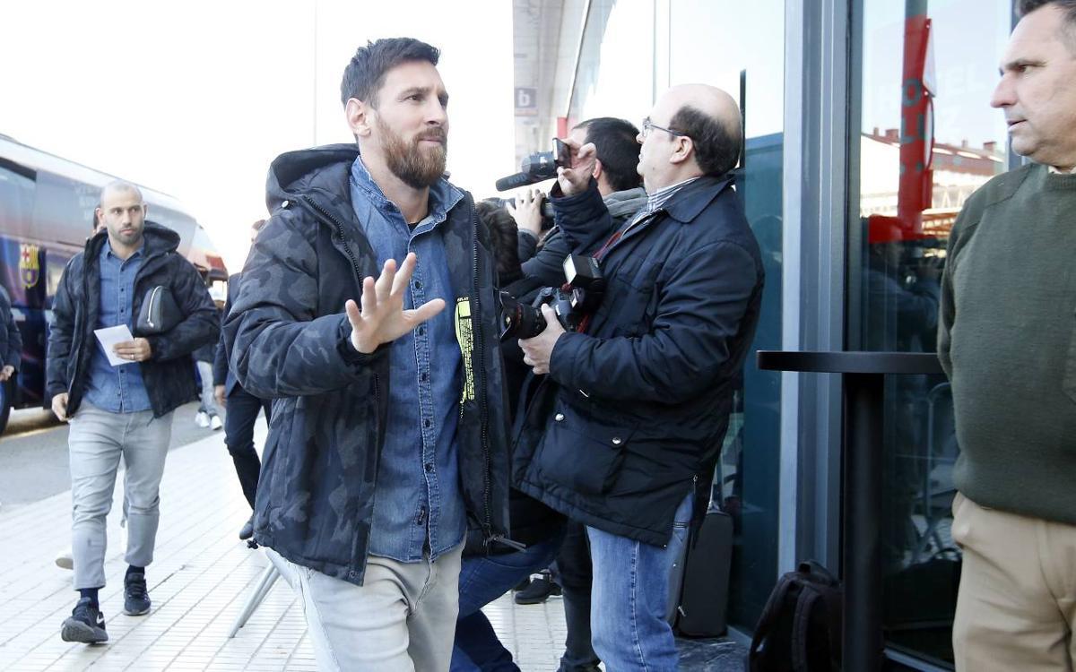 Así ha sido el viaje del Barça a Villarreal