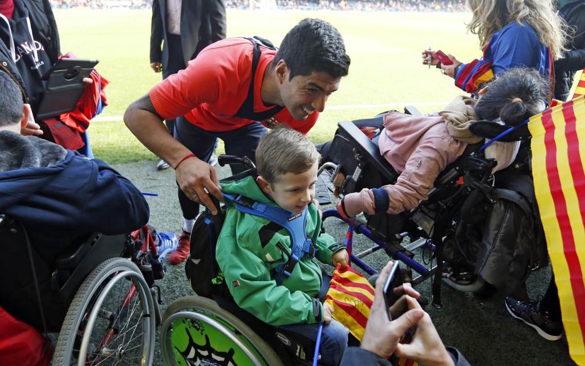 Unforgettable day for FC Barcelona's littlest fans