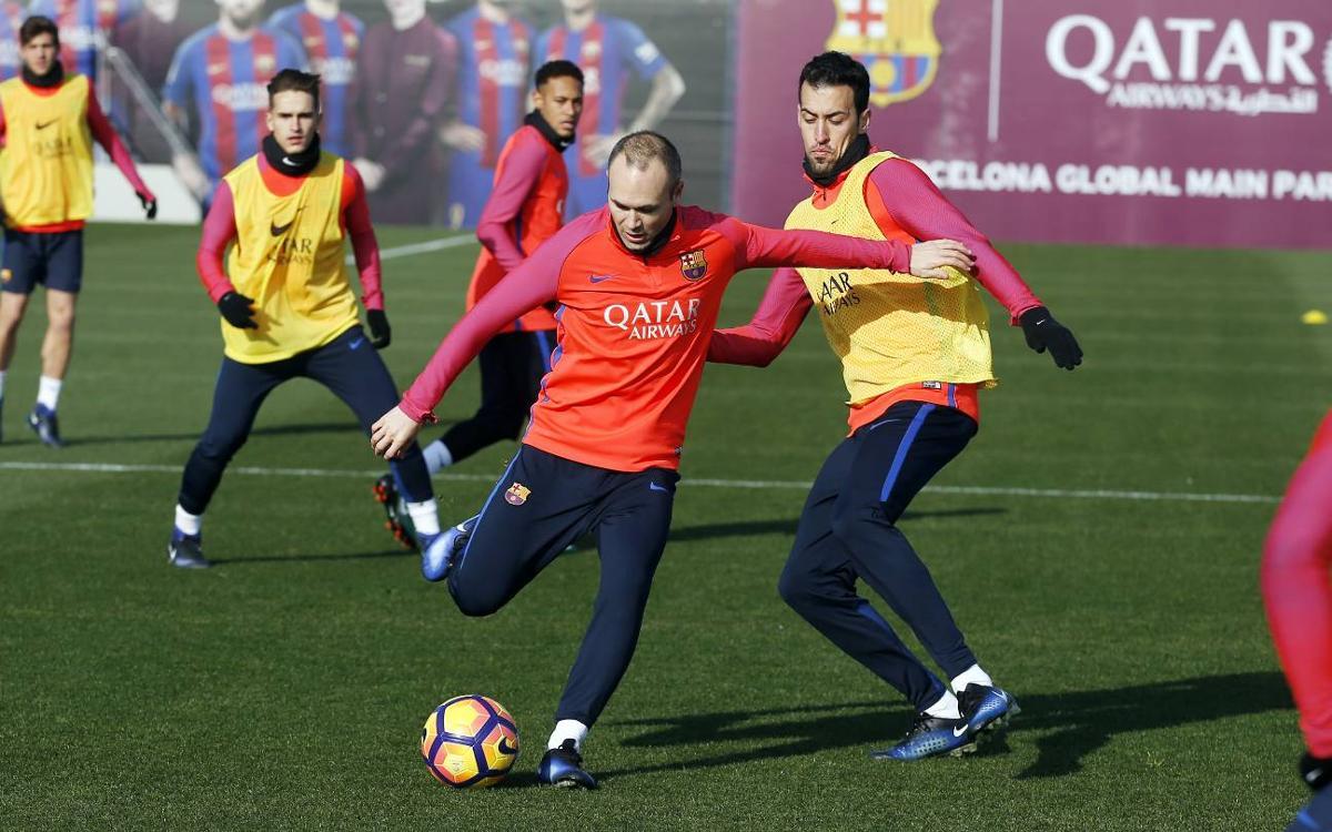 Dernière séance avant le déplacement à Villarreal pour le FC Barcelone