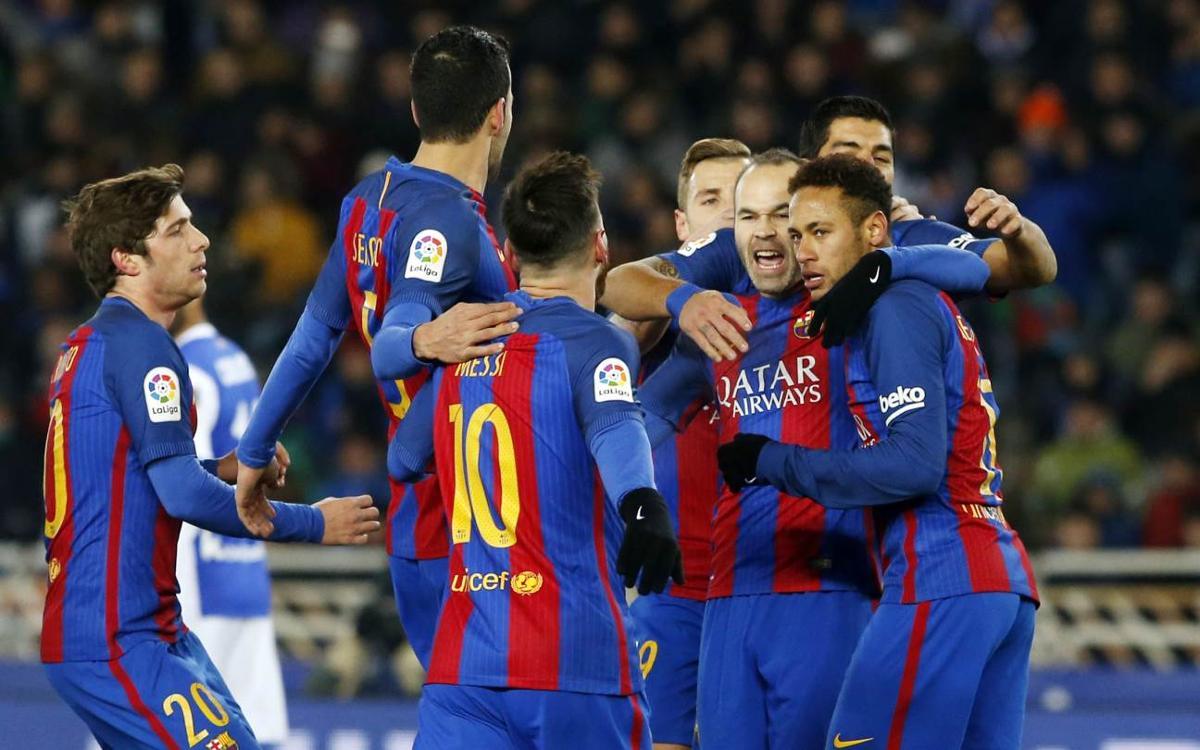 Reial Societat – FC Barcelona: Premi doble a Anoeta (0-1)