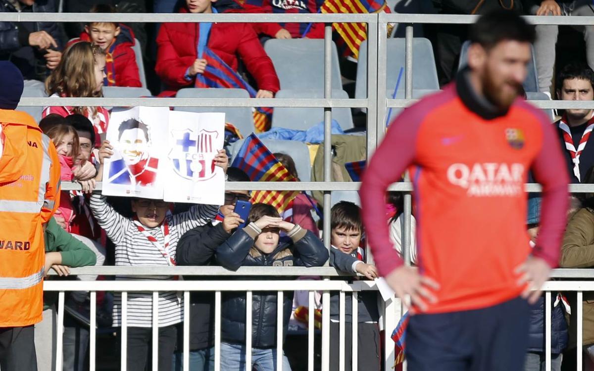 Préparation festive avant la Coupe du Roi pour le FC Barcelone