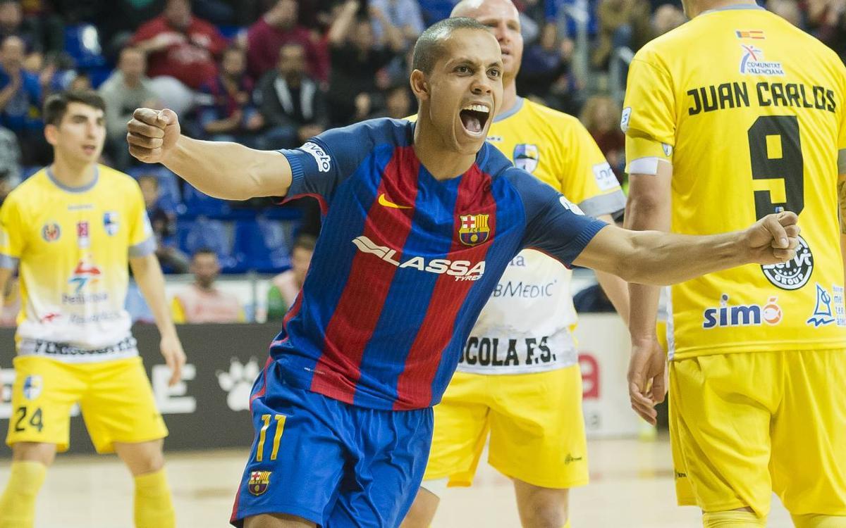 FC Barcelona Lassa - Peñíscola Rehabmedic: Reacció i golejada al Palau (6-1)