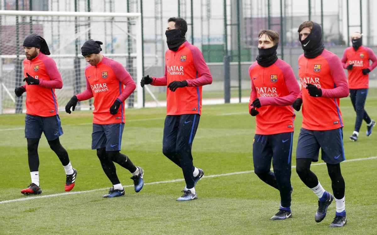 FC Barcelona start training for Copa del Rey game with Hércules