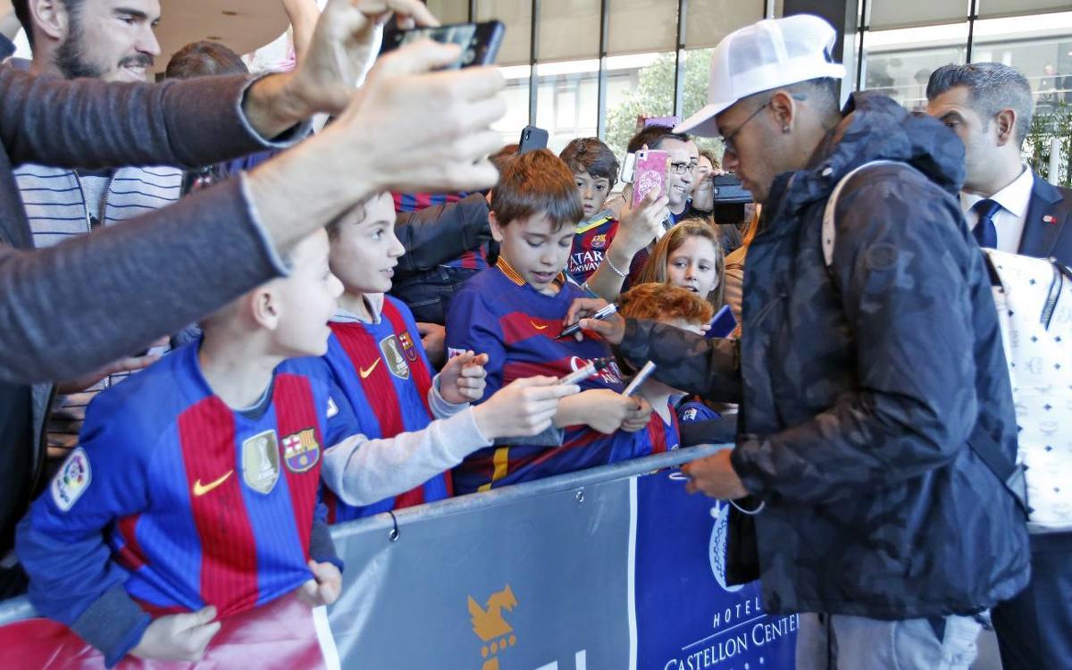 FC Barcelona arrive in Villarreal
