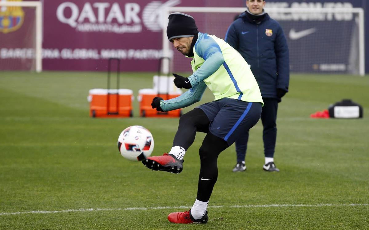 Luis Suárez, 'killer' también en los entrenamientos