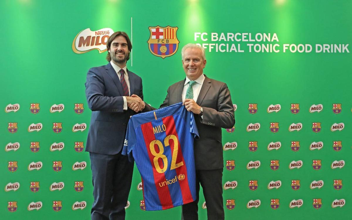 El FC Barcelona y Nestlé MILO unen fuerzas para promocionar un estilo de vida más saludable para los niños