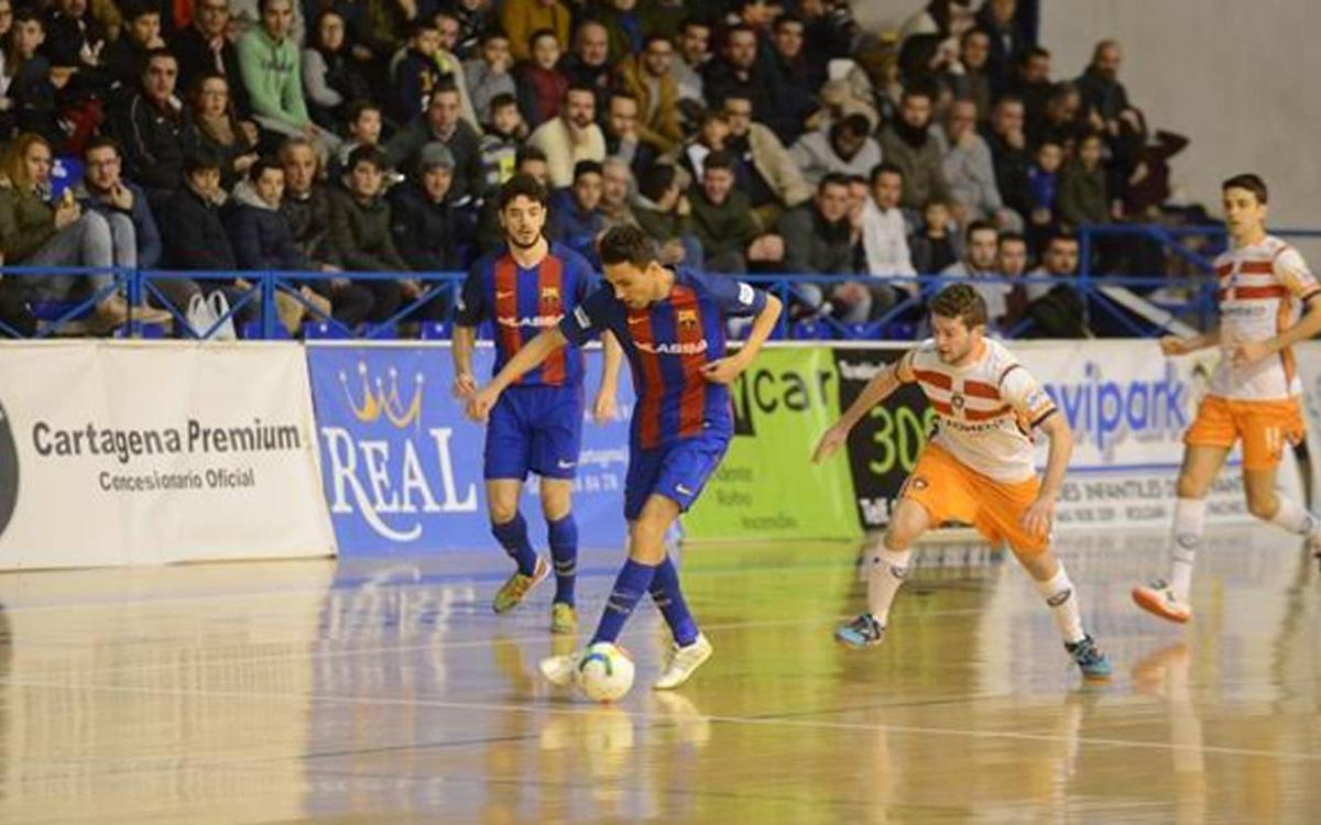 Cartagena – FC Barcelona Lassa: Victòria competida en una pista complicada (1-3)
