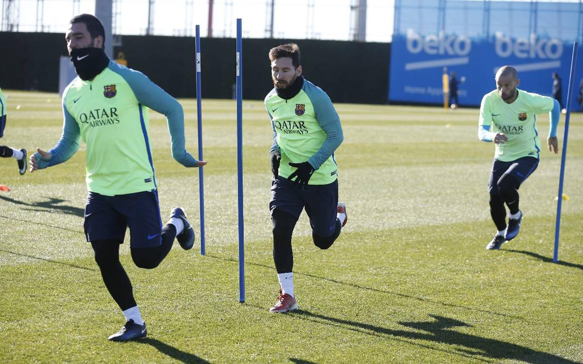 Last training session before hosting Las Palmas