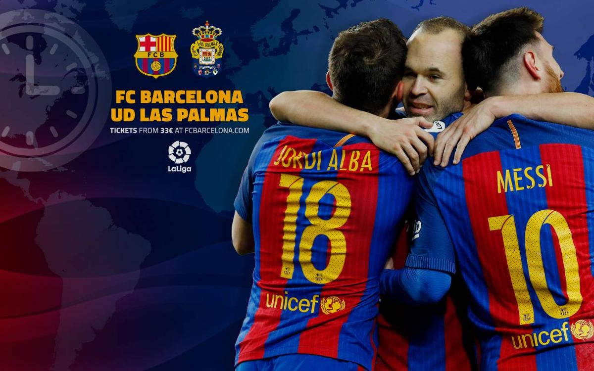 When and where to watch FC Barcelona v Las Palmas this weekend