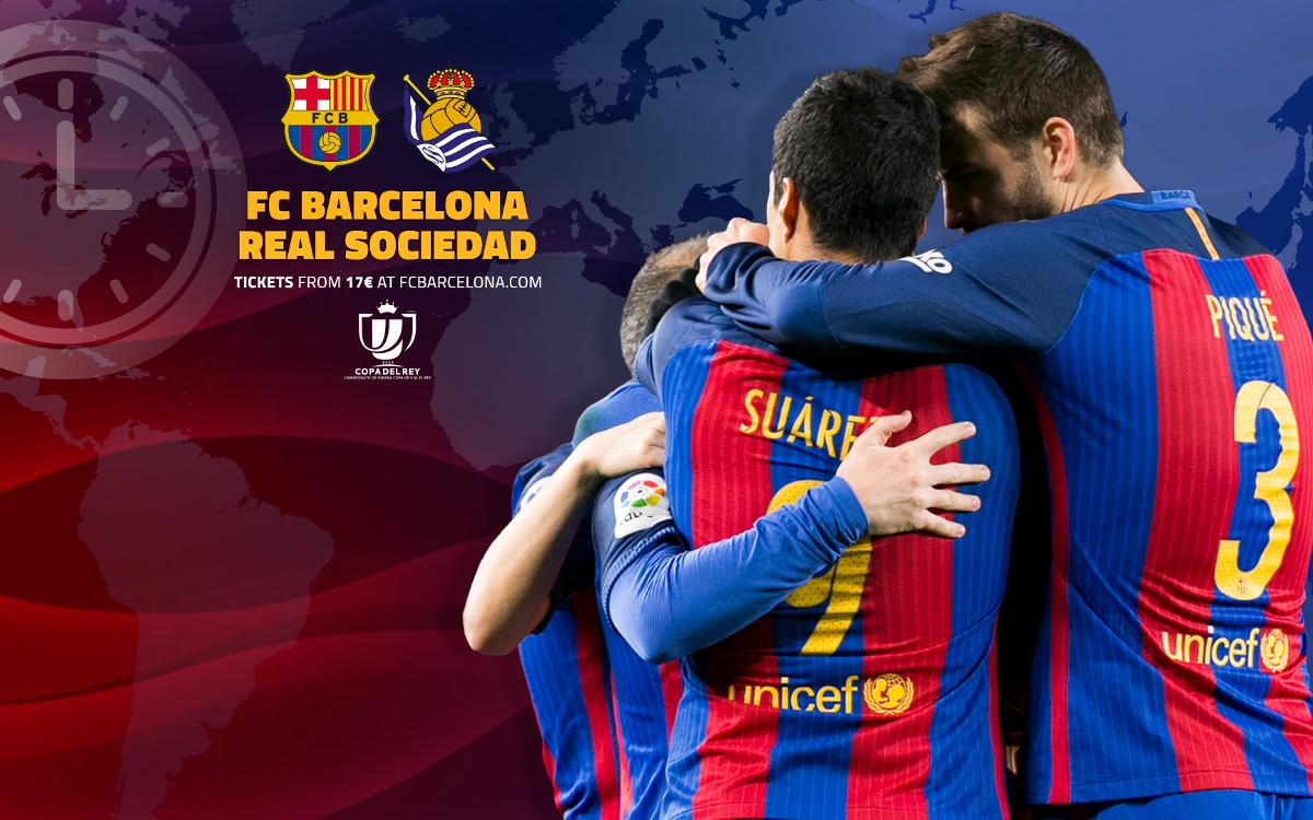 When and where to watch FC Barcelona v Real Sociedad