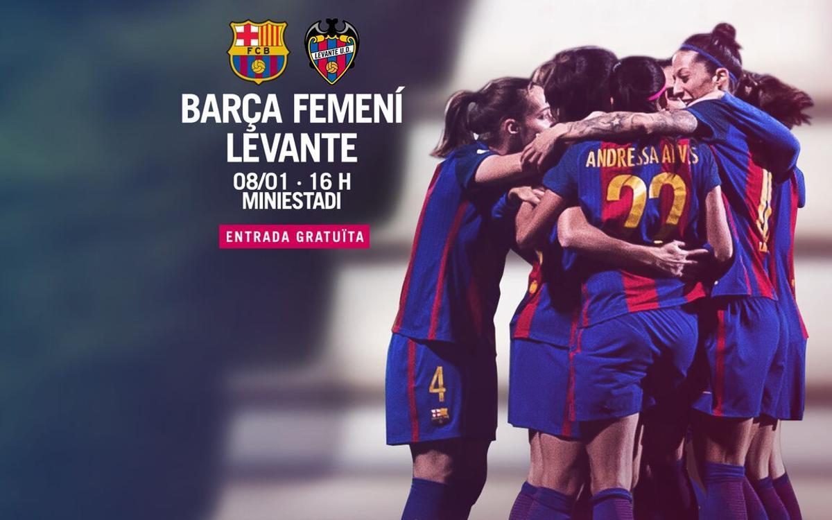 FC Barcelona Femení – Llevant UD: Any nou al Miniestadi