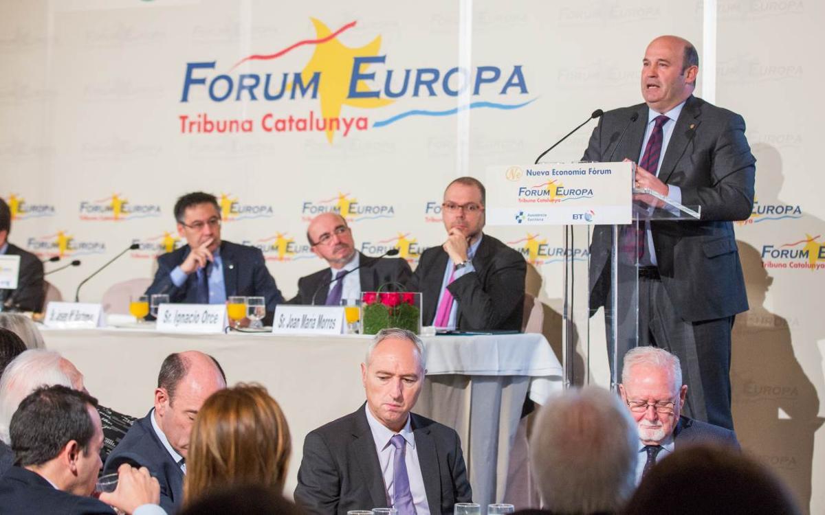 Òscar Grau presenta el Pla Estratègic del Club al Fórum Europa. Tribuna Catalunya