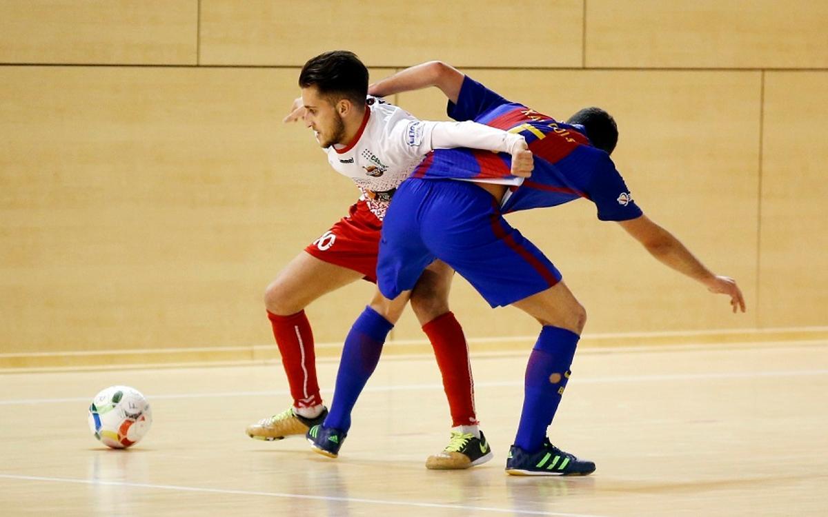 El filial mantiene el liderato con un empate ante Naturpellet Segovia (1-1)