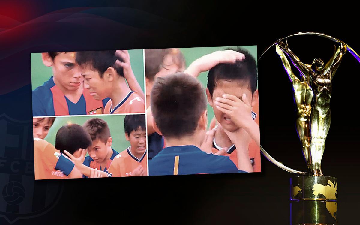 Les U14 du FC Barcelone nommés pour le Plus Beau Geste Sportif de l'année 2016