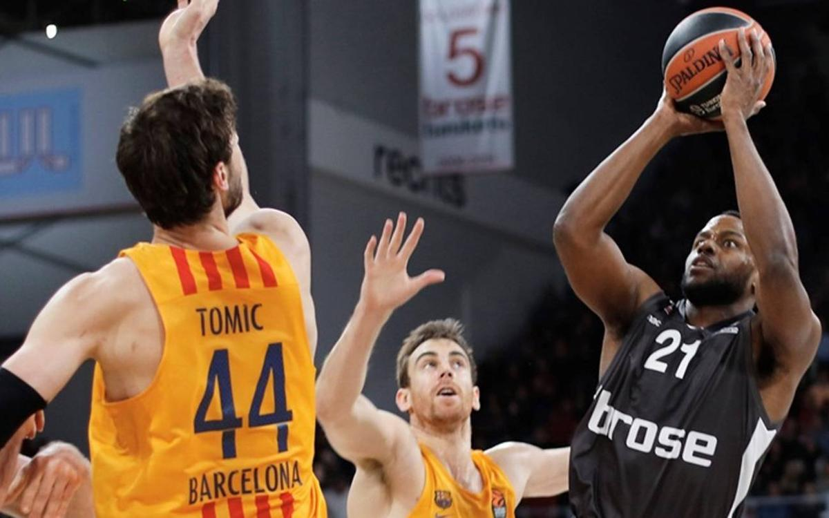 Brose Bamberg 85-65 FC Barcelona Lassa: Heavy defeat in Germany