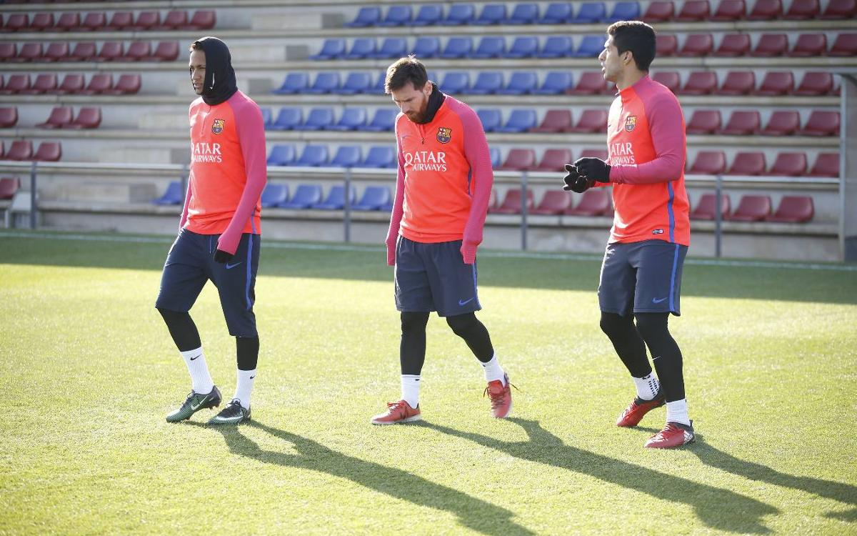 Friday's training session focuses on league clash with Villarreal