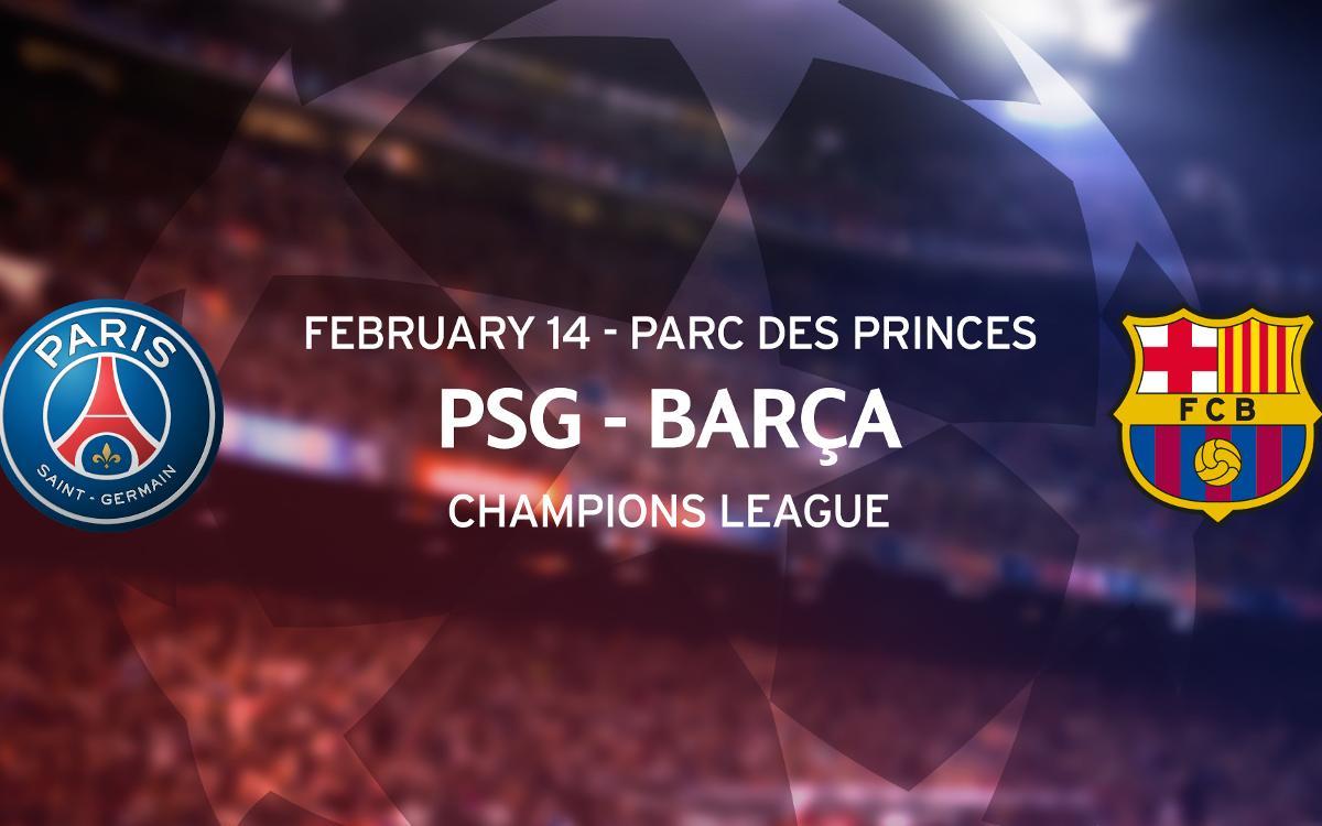 Tickets PSG - Barça Champions League match