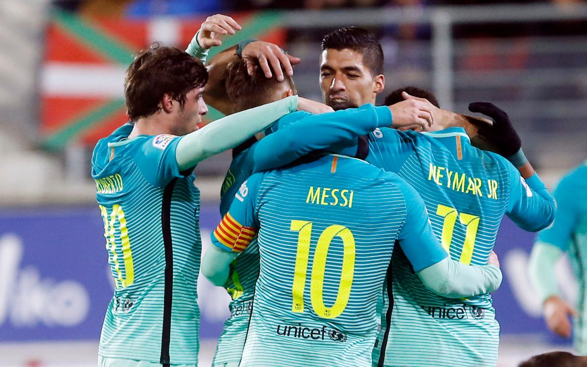 Eibar v FC Barcelona: Keeping up the pressure (0-4)