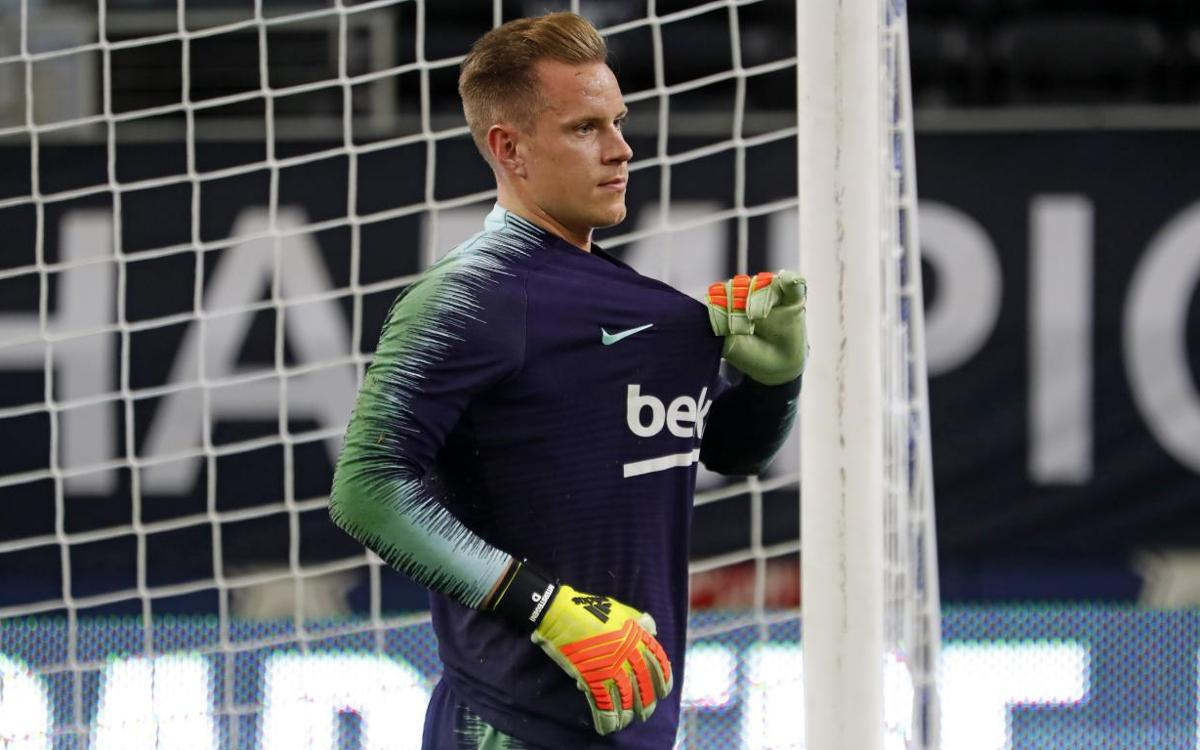 Ter Stegen makes preseason training debut