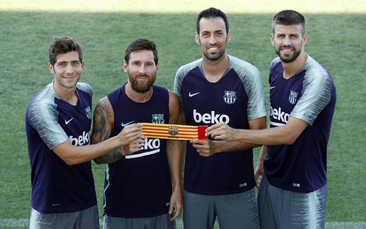 Four captains from La Masia
