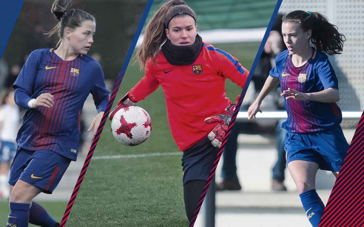 Pina, Gemma Font y Candela, en dinámica de primer equipo y con dorsal