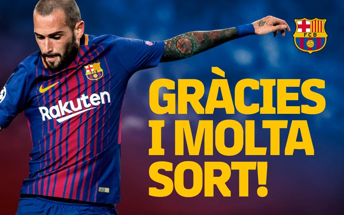 Acord amb el Sevilla FC pel traspàs d'Aleix Vidal