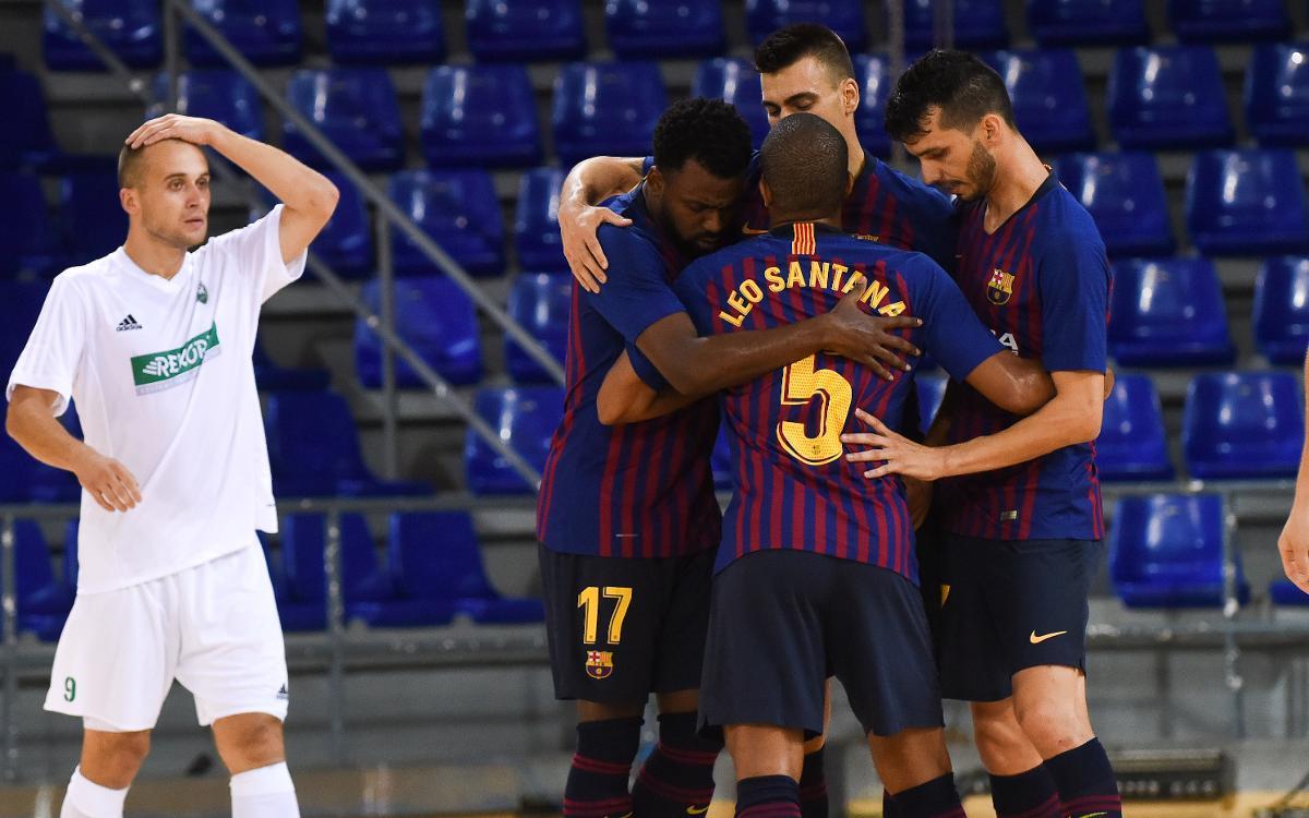Debut amb bon peu i pluja de gols contra el Futsal Rekord (11-0)