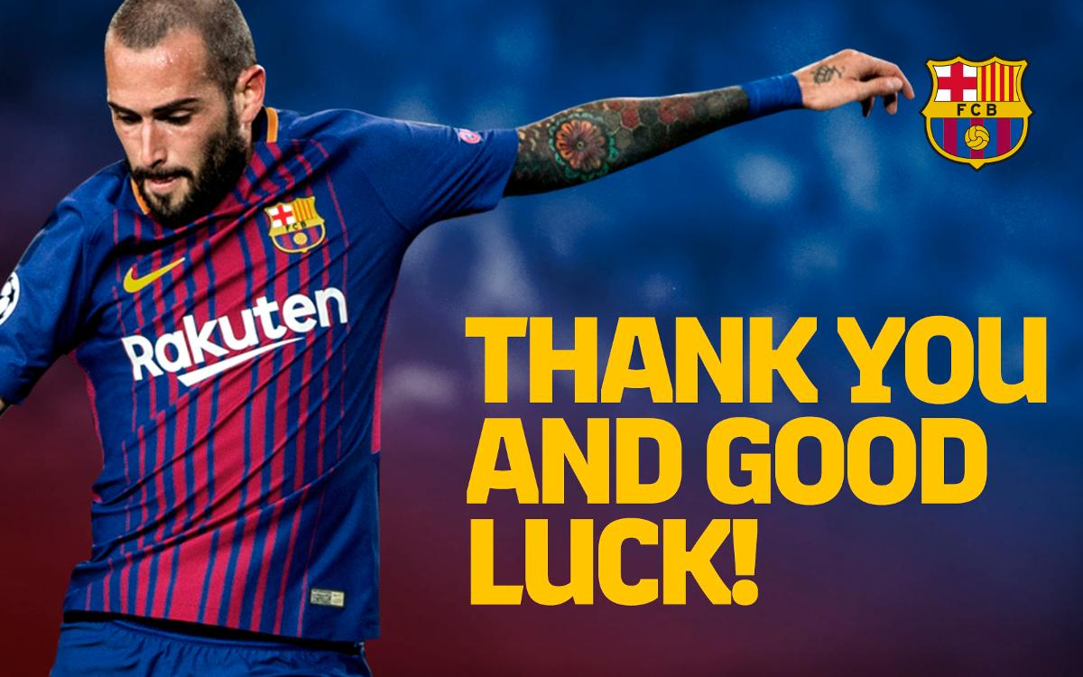 Agreement with Sevilla FC for the transfer of Aleix Vidal