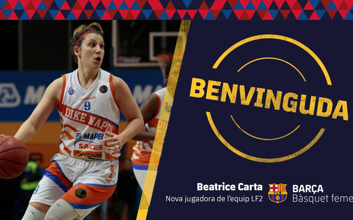 Beatrice Carta s'incorpora al Barça CBS