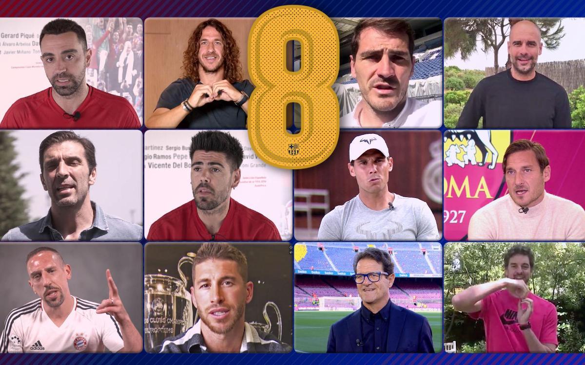 Paraules infinites per a Andrés Iniesta de les estrelles de l'esport