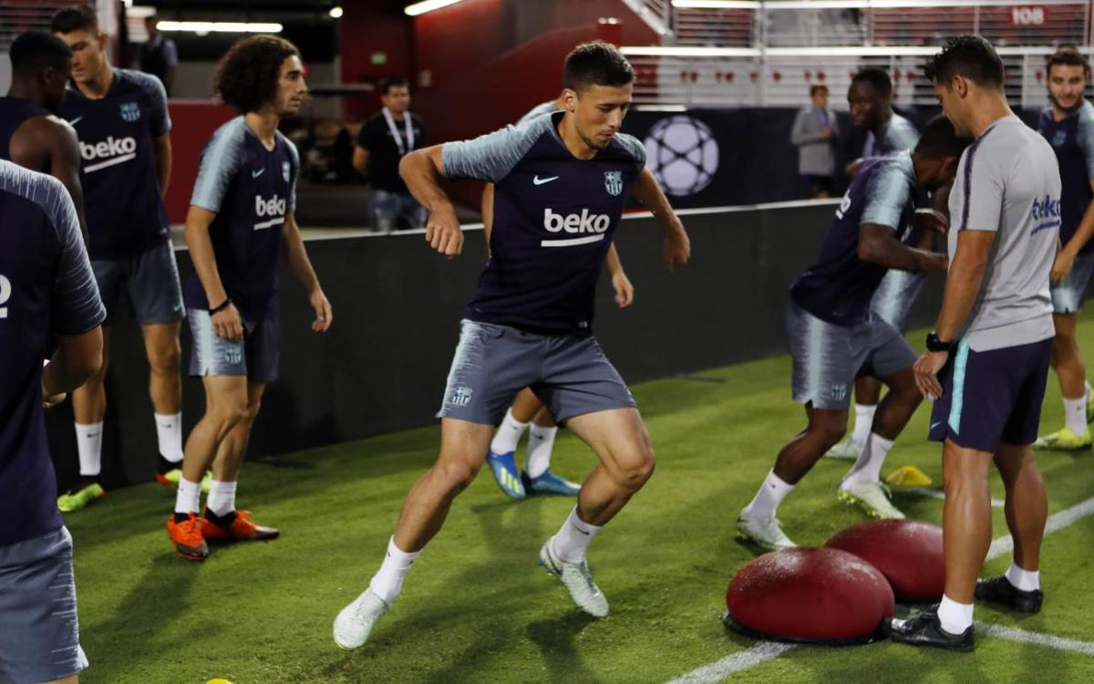 FC Barcelona trains at Levi's Stadium, final session of US tour