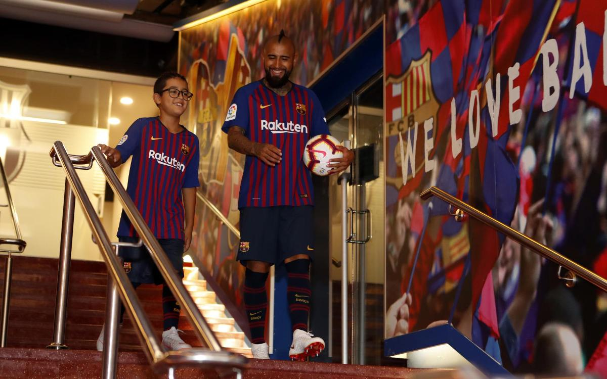 Arturo Vidal's first 24 hours in Barcelona